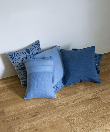 LINEN CUSHION COVER (SQUARE) / NUIT BLUE