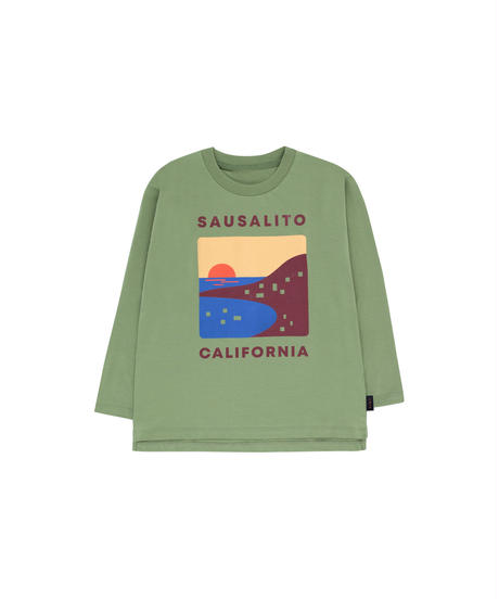 【 tiny cottons 2019SS 】AW19-042 SAUSALITO LS TEE / green wood/aubergine