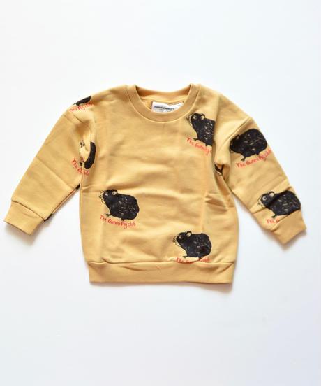 【 mini rodini 2019AW 】19720152  Guinea pig sweatshirt / Beige