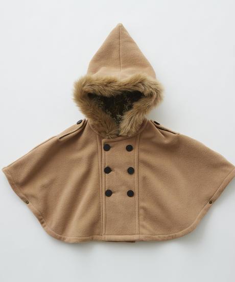 【 eLfinFolk 2019AW 】elf-192F28 freece baby mantle / beige / free (80-100cm)