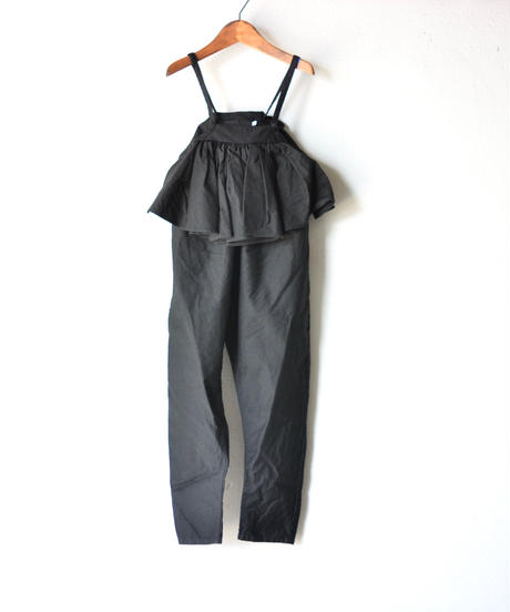 【 folk made 2019AW 】salopette / black / size LL(140-155cm)