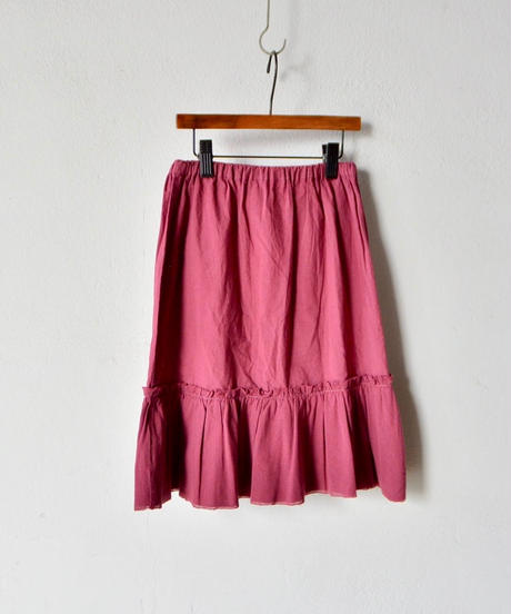 【 folk made 2018SS】No.16 tulle skirt / エビチャイロ