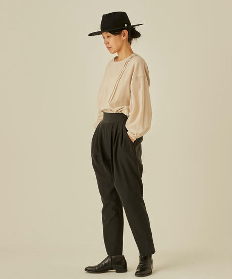 【 eLfinFolk 2019AW 】elf-192F51 modal dress pants / black / 大人