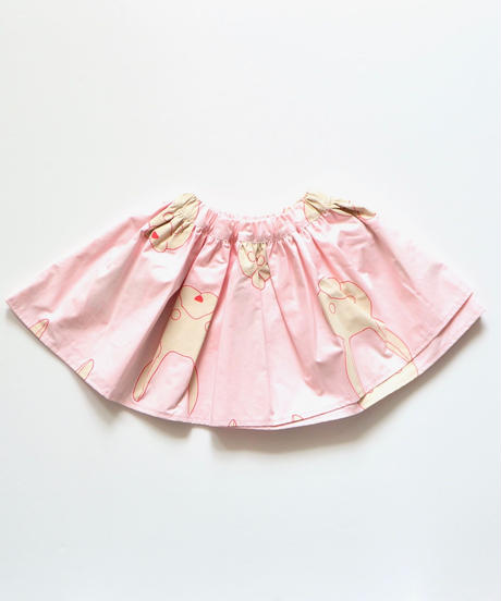 【 franky grow 2019AW 】19FWBT-235 TOTAL HANDLE AIRY SKIRT / PINK-RED RABBIT
