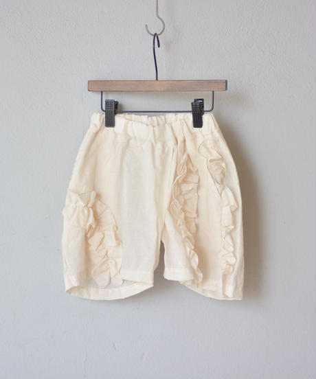 【 UNIONINI 18SS 】 frill short pants / ecru  / 90〜140cm   (PT-049)