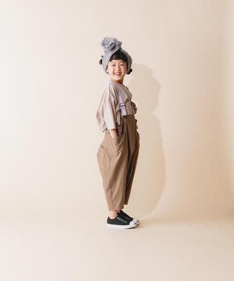 【 nunuforme 2019AW 】nf12-626-012 サルエルサロペット / Brown