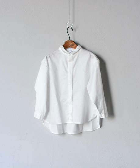 【 MOUN TEN. 2020SS 】80/1 washer big shirts [MT201004-c]  / white / Ladies