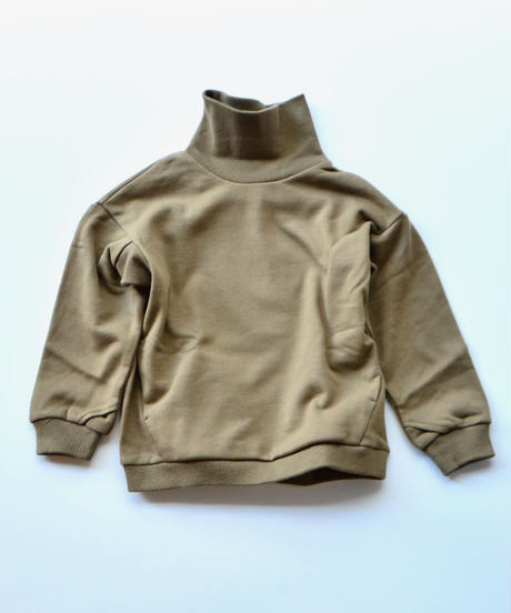【 MOUN TEN. 2019AW 】sweat highneck    / khaki / 150 - 160