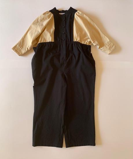 【I様専用ページ】【 folk made 2019AW 】neo jumpsuit / black x beige / size 大人