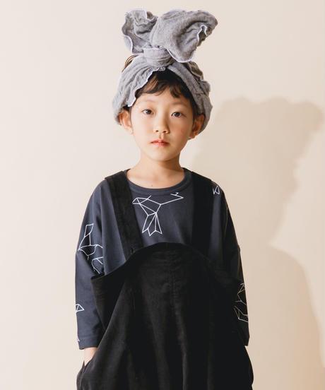 【 nunuforme 2019AW 】nf12-838-579  折り紙 T / Charcoal x White