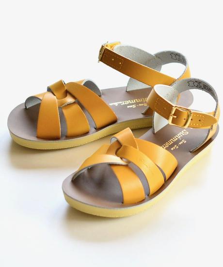 """【 Saltwater Sandals 19SS】 海でも履けるレザーサンダル  / ソルトウォーターサンダル """"Swimmer""""  / マスタード / 20 - 22.5cm"""