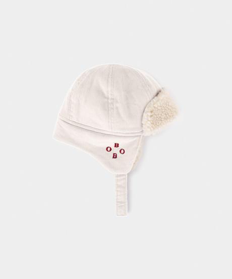 【 Bobo Choses 2019AW 】219277 BEIGE SHEEPSKIN BABY HAT(baby size)