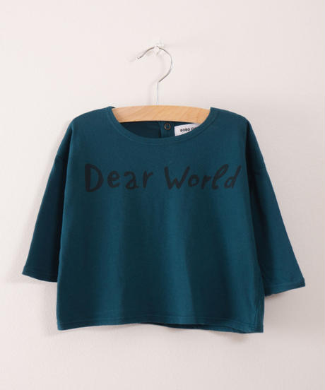 【 bobo Choses 2017AW】217281 Baby T-Shirt Dear World
