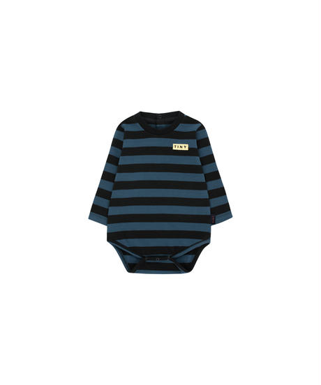 【 tiny cottons 2019SS 】AW19-058 STRIPES LS BODY / black/true navy