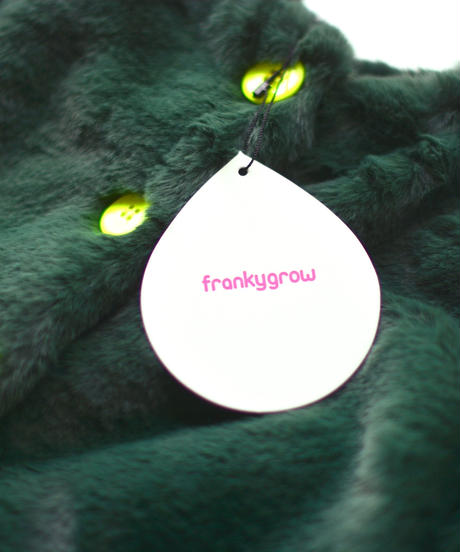 【 franky grow 2018AW 】OT-063 WAVE CUT SLEEVES BOA JACKET / GREEN / size LL(9-11歳)