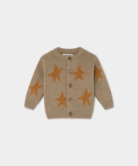 【 Bobo Choses 2019AW 】219200 STARS JACQUARD CARDIGAN