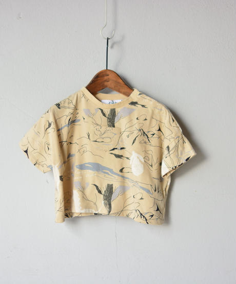 【 folk made 2020SS 】#9 stones T-shirts / beige print