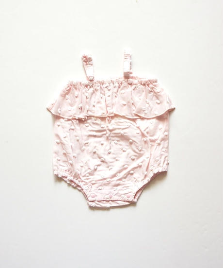 "【 franky grow 2020SS 】19SCS-354 BONBON CUT JQ CAMISOLE GATHER BODY "" ロンパース "" / PINK*WH BONBON"