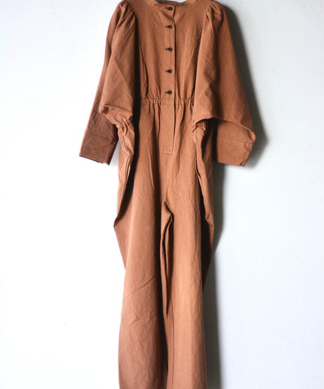 【 folk made 2019AW 】neo jumpsuit / chocolate brown / size LL(140-155cm)