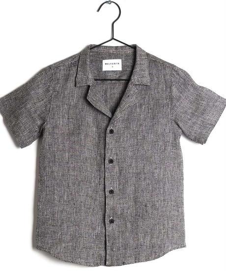 【 WOLF & RITA 2019SS 】BRUNO - Shirt / BLACK LINEN