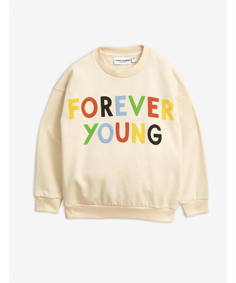 【 mini rodini 2019AW 】19720157  Forever young sp sweatshirt / Offwhite
