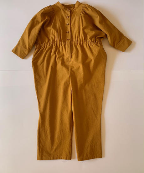 【 folk made 2019AW 】neo jumpsuit / mustard / size LL(140-155cm)
