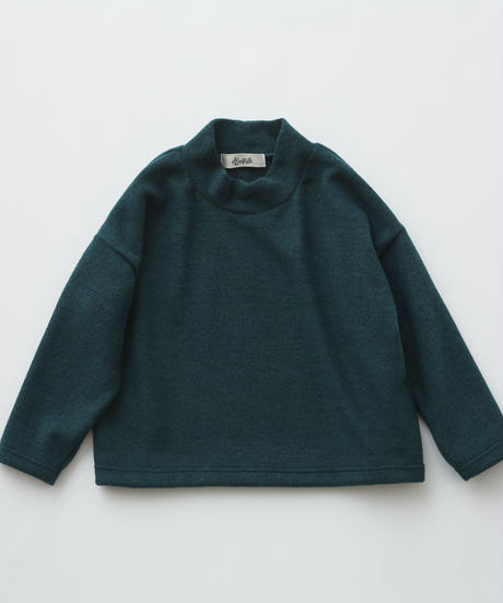 【 eLfinFolk 2019AW 】elf-192J34 melange highneck tops / green / 140 - 150cm