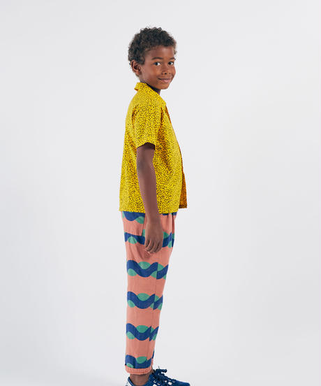 【 Bobo Choses 2020SS 】12001090	All Over Sea Baggy Trousers