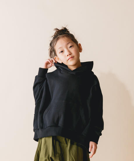 【 nunuforme 2019AW 】nf12-947-503 ビッグパーカー / Black / 大人