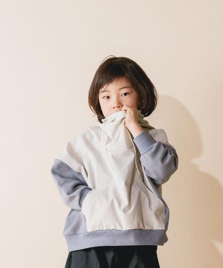 【 nunuforme 2019AW 】nf12-965-503 ミックスパーカー / Ivory / 大人