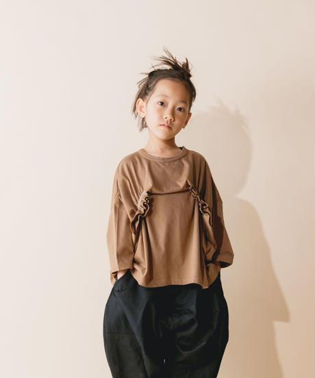 【 nunuforme 2019AW 】nf12-967-500 タックフリルT / Brown