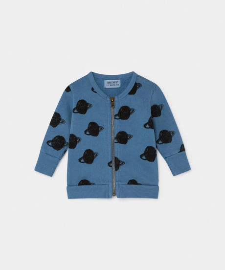【 Bobo Choses 2019AW 】219161 ALL OVER BIG SATURN ZIPPED SWEATSHIRT