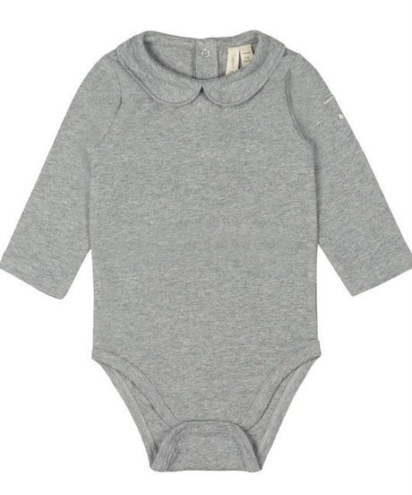 【 GRAY LABEL 2019AW】Baby Collar Onesie / Grey Melange / 9-12m