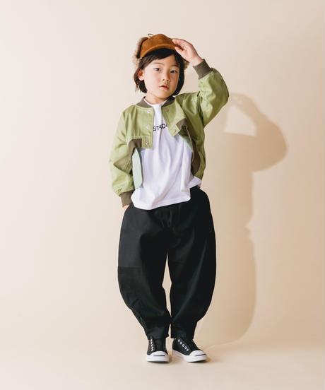 【 nunuforme 2019AW 】nf12-618-005 ヘムタックカーブパンツ / Black / 大人