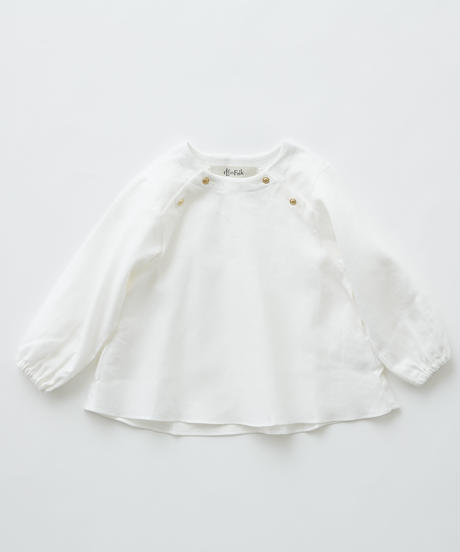 【 eLfinFolk 2019AW 】elf-192F27 C/L washer baby blouse / white / 80 - 100cm