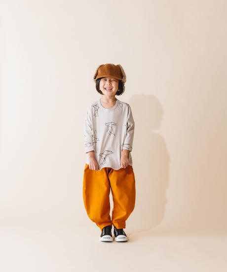 【 nunuforme 2019AW 】nf12-618-005 ヘムタックカーブパンツ / Orange / 大人