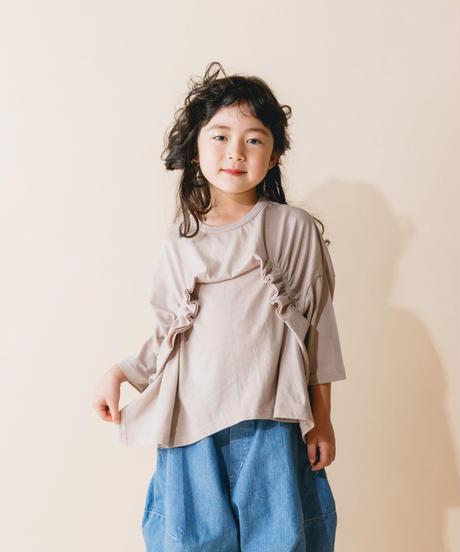 【 nunuforme 2019AW 】nf12-967-500 タックフリルT / Beige / 大人