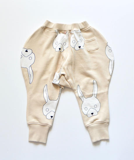 【 franky grow 2019AW 】19FWBT-231 TOTAL HANDLE KNEE PATCH SWEAT PANTS / BEIGE-IVORY RABBIT