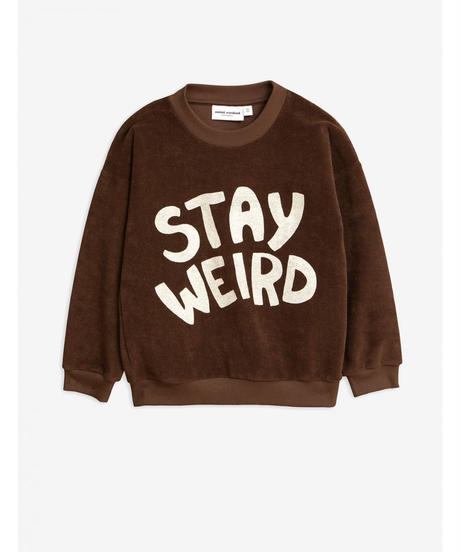 【 mini rodini 2019AW 】19720165  Stay weird sp terry sweatshirt / Brown