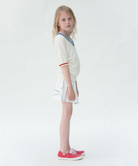 【BOBO CHOSES 2017SS】117075 Tennis Skirt Court