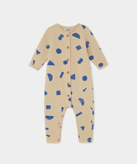 【 Bobo Choses 2019AW 】219166 ALL OVER STUFF JUMPSUIT / 70cm