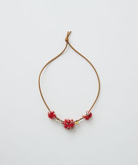 【 eLfinFolk 2019AW 】elf-192A42 talisman necklace / camel red bonbon