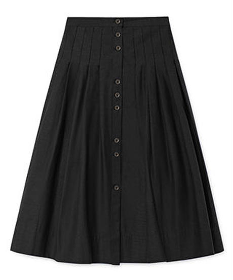 【 Little Creative Factory 2018AW】Horizon Skirt  / BLACK