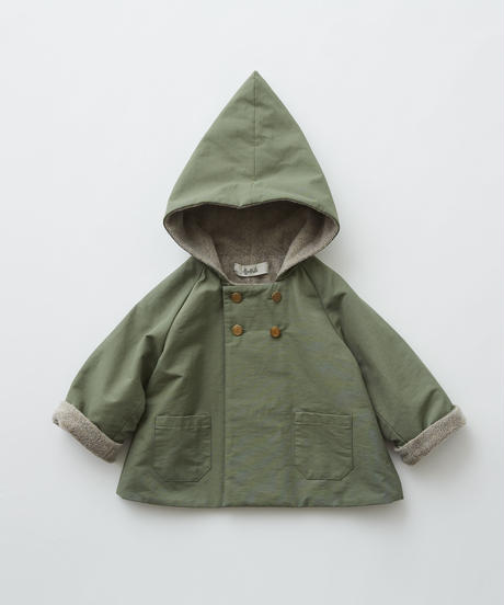 【 eLfinFolk 2019AW 】elf-192F21 elf coat / sage green / 90 - 100cm