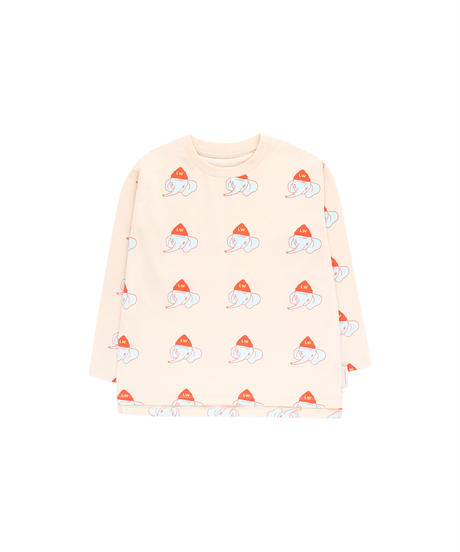 【 tiny cottons 2019SS 】AW19-001 LUCKYPHANT LS TEE / light cream/light mint