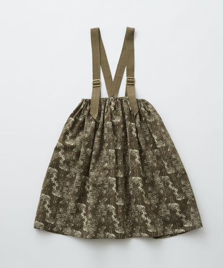 【 eLfinFolk 2019AW 】elf-192F08 ALfaFolk emblem print skirt / brown / 90, 110, 130cm