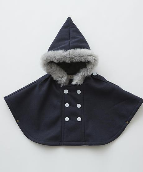 【 eLfinFolk 2019AW 】elf-192F28 freece baby mantle / navy / free (80-100cm)