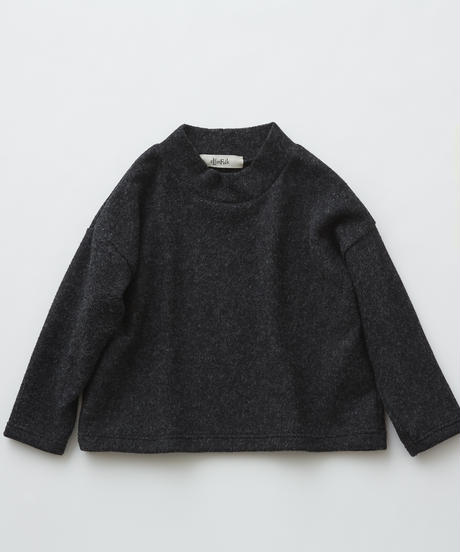 【 eLfinFolk 2019AW 】elf-192J34 melange highneck tops / charcoal / 140 - 150cm