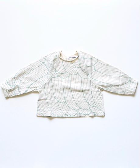 """【 ミナペルホネン 19SS 】XA8992P sulka  """"ロングスリーブTee""""/ light beige / 110-130cm"""