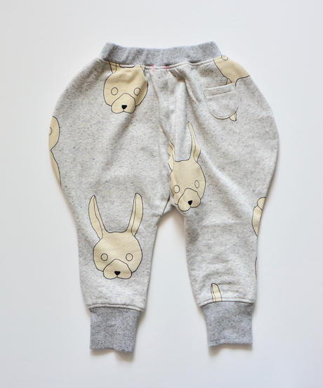 【 franky grow 2019AW 】19FWBT-231 TOTAL HANDLE KNEE PATCH SWEAT PANTS / GRAY-IVORY RABBIT
